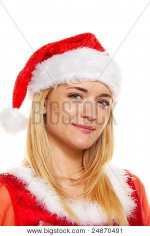 christmas woman, portrait