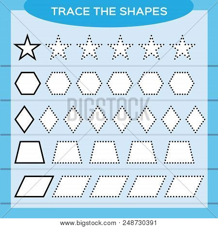 Trace Shapes. Kids Vector & Photo (Free Trial) | Bigstock