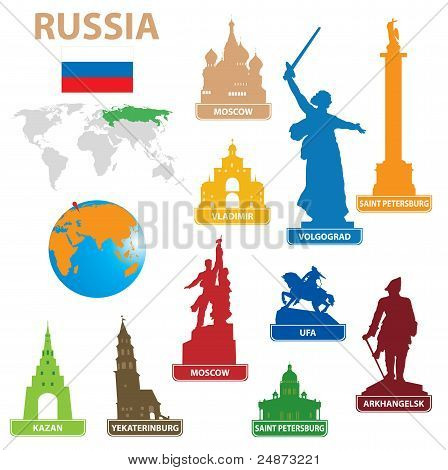 Symbols City To Russia