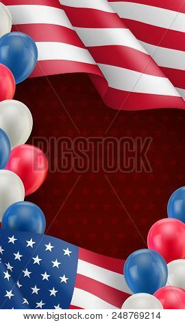 Patriotic Christmas Background.Usa Country Patriotic Vector Photo Free Trial Bigstock