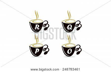 Coffee Cup Restaurant Set Logo Design Template