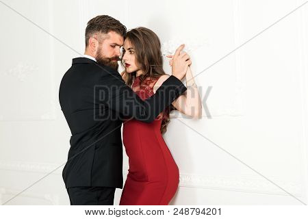 Sexy Couple, Sensual Couple, Sexual People. Love, Relations, Dominating. Dominating In The Foreplay