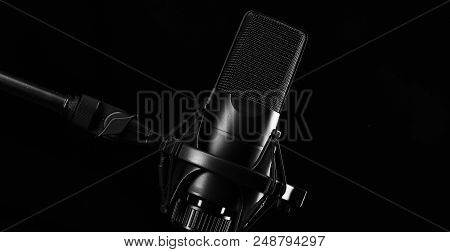 Microphone. Modern Sound System Equipment