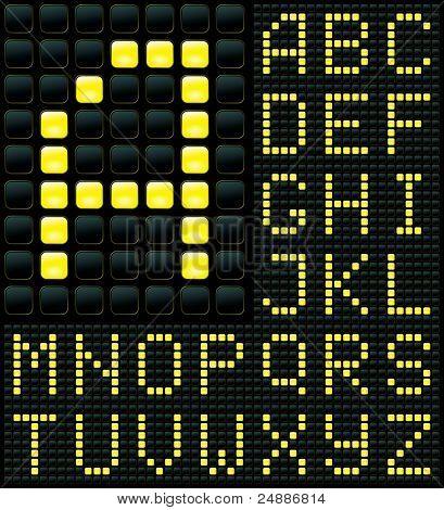 Display with Alphabet