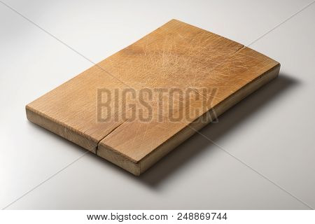 Isolated Rectangular Wooden Chopping Board
