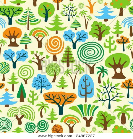 Tree Seamless Wallpaper