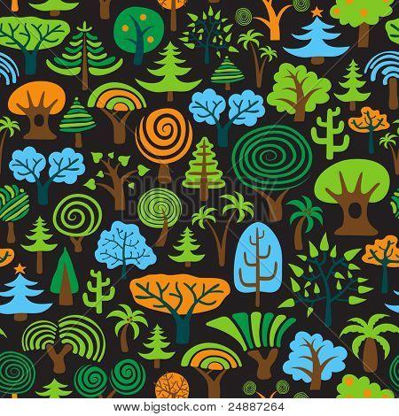 Tree Seamless Background