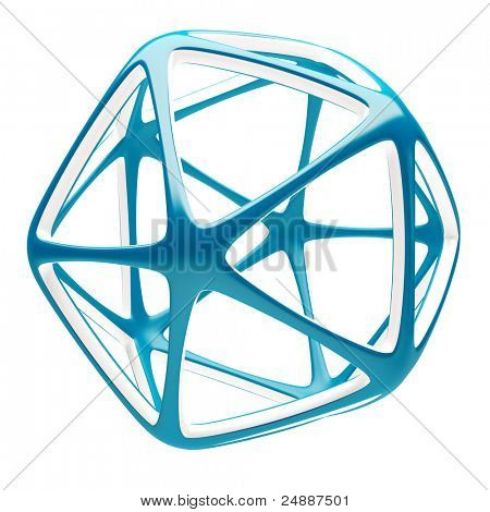 3d Blue Abstract Shape