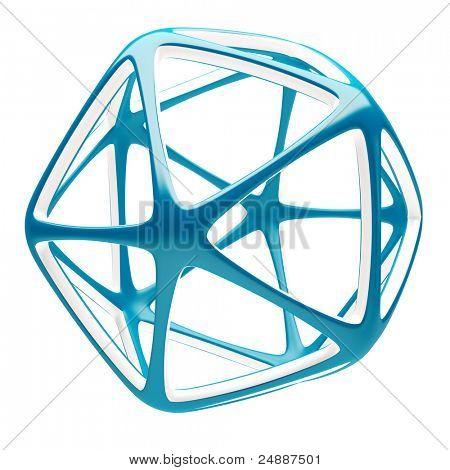 3d Blue Abstract Shape