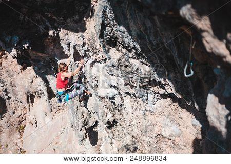 Rock Climbing In Turkey.