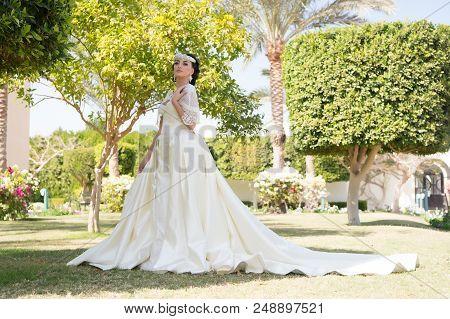 Wedding. Wedding Dress Fashion. Wedding Ceremony With Pretty Woman In Beautiful Dress. Wedding Fashi