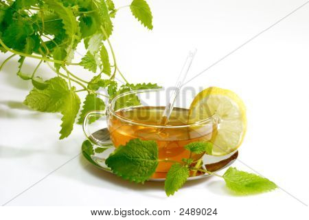 Herbal Tea With Lemon Balm Leaves