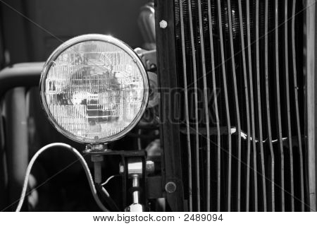 Headlight On Old Model T