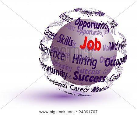 Job concept 3d sphere