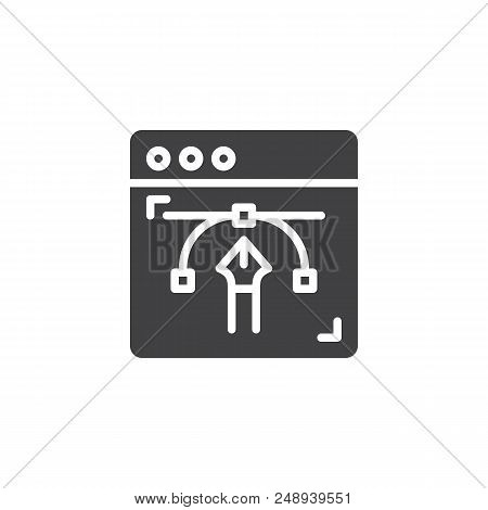 Design Web Page Vector Icon. Filled Flat Sign For Mobile Concept And Web Design. Web Designer, Brows