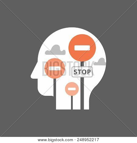 Mindset, Mental Block, Psychology And Psychiatry, Bias Concept, Potential Development, Positive Thin
