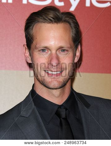 LOS ANGELES - JAN 13:  Alexander Skarsgard arrives to the WB/In Style Golden Globe Party  on January 13, 2013 in Hollywood, CA