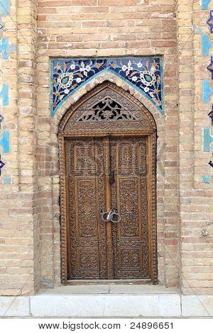Wooden Door Of Guri Amir