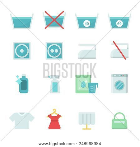 Dry Cleaning Symbols Vector Photo Free Trial Bigstock