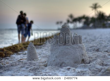 Sand Castle On The Beach Of Key West