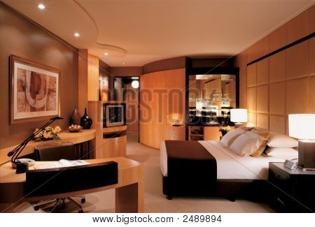 A well lit room with furniture and other accessories Interior shot. poster