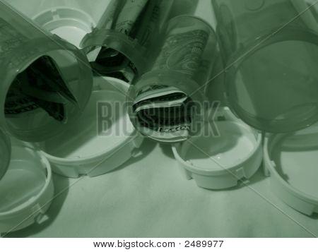 Green Medical Bottles