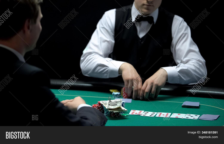 Casino Croupier Image Photo Free Trial Bigstock