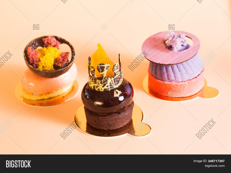 Peachy French Mousse Cakes Image Photo Free Trial Bigstock Birthday Cards Printable Benkemecafe Filternl