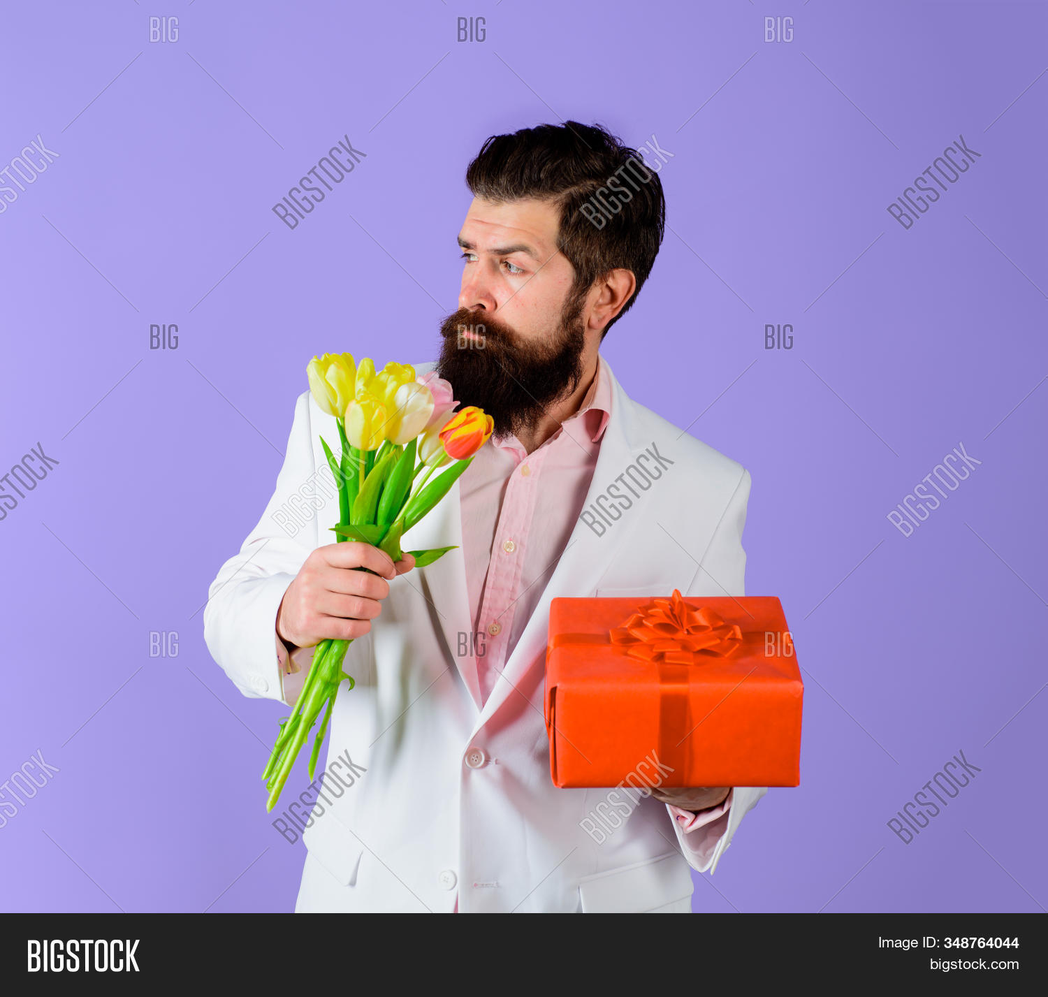 Handsome Man Holds Image Photo Free Trial Bigstock