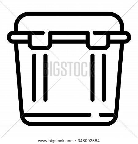 Car Portable Fridge Icon. Outline Car Portable Fridge Vector Icon For Web Design Isolated On White B