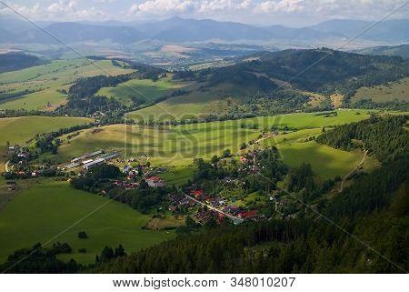 Village On Liptov Liptovska Anna View From Cerenov Rock. Beautiful Slovakia.