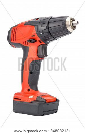Cordless 12v Drill Driver Powered By Li-ion Battery With Keyless Chuck In Red And Black Rubberized R