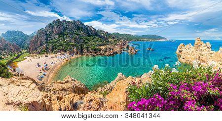 Landscape Of Costa Paradiso With Wild Spiaggia Di Li Cossi, Sardinia