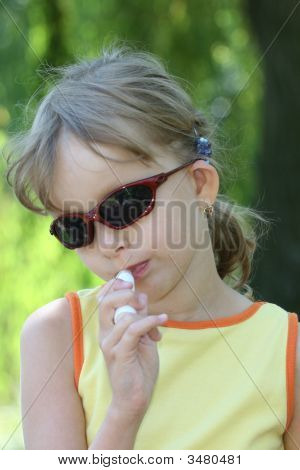 Young Girl Creating Her Make Up