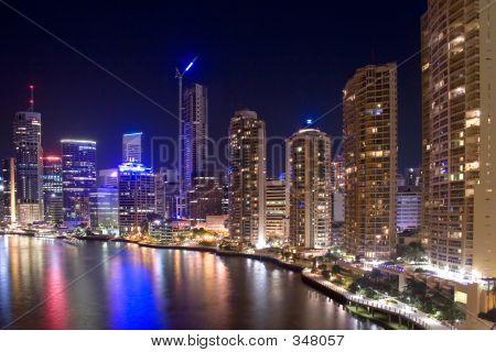 Brisbane City Night Skyline
