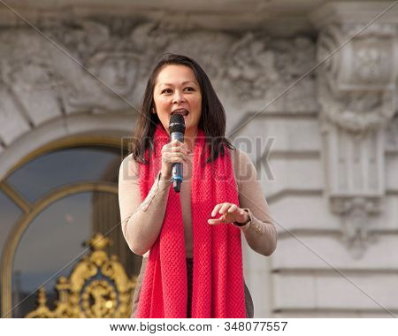 San Francisco, Ca - Jan 18, 2020: City Assessor And Recorder, Carmen Chu, Speaking At The The Womens