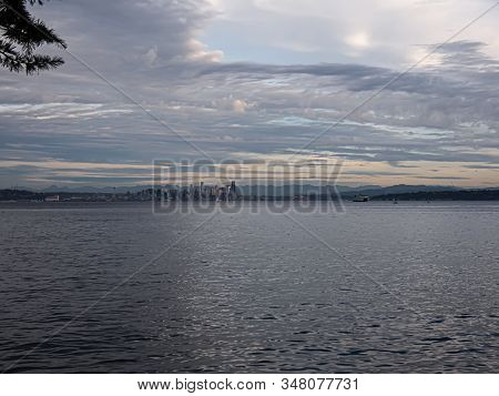 Veiw Of Seattle From Across The Puget Sound
