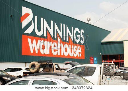 Sydney, Australia - 2020-01-03 Exterior Of Bunnings Warehouse. Bunnings Is Largest Australian Househ