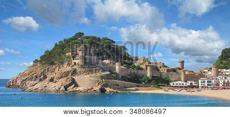 The Popular Village Of Tossa De Mar At Costa Brava,catalonia,mediterranean Sea,spain