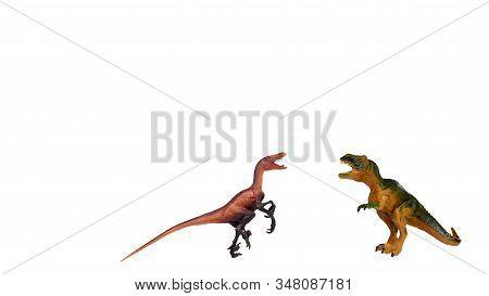 Rubber Dinosaur Toy. Prehistoric Wild Animal, Danger Beast, T-rex.