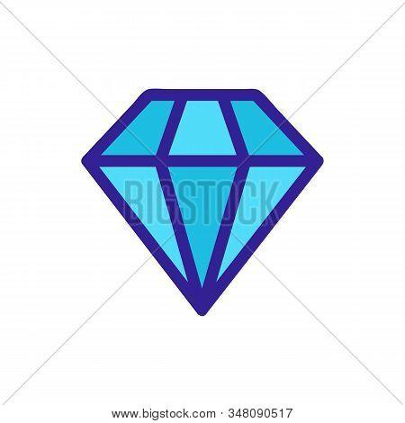Aquamarine Stone Icon Vector. A Thin Line Sign. Isolated Contour Symbol Illustration