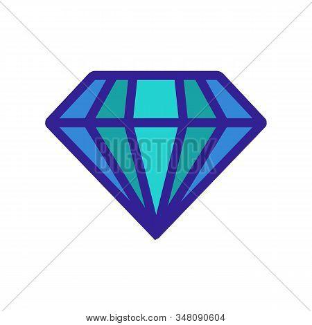 Aquamarine Icon Vector. A Thin Line Sign. Isolated Contour Symbol Illustration