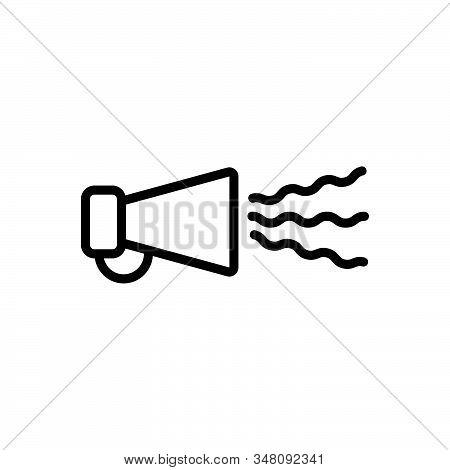 Black Line Icon For Buzz-marketing Advert Advertisement Bullhorn Commercial Megaphone Online-marketi