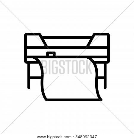 Black Line Icon For Custom-printing Printer Printing Copierprinter Printing Copier Machine Technolog