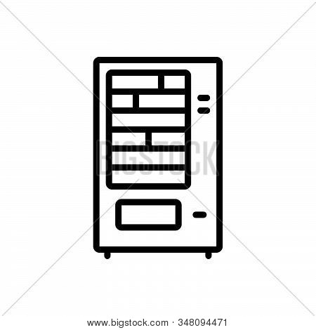 Black Line Icon For Vending-machine Vending Machine Laundry Automation Electronic Beverage Confectio