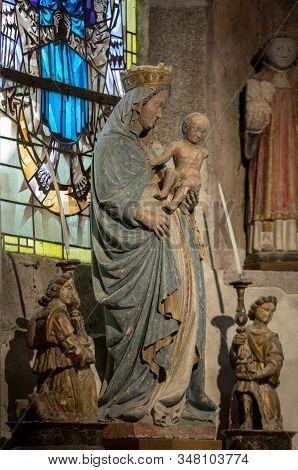 Le Mont-saint-michel, France - September 13, 2018: Saint Pierre Parish Church In Mont Saint Michel,