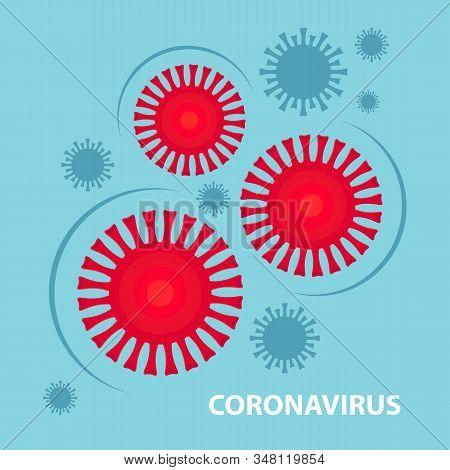 Coronavirus Cell, 2019-ncov. China Pathogen Respiratory Coronavirus 2019-ncov In A World, Dangerous