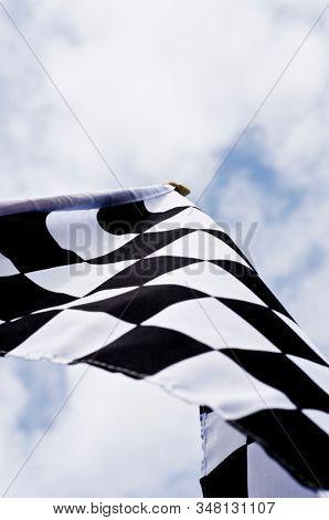 Motorsport black and white checkered flag