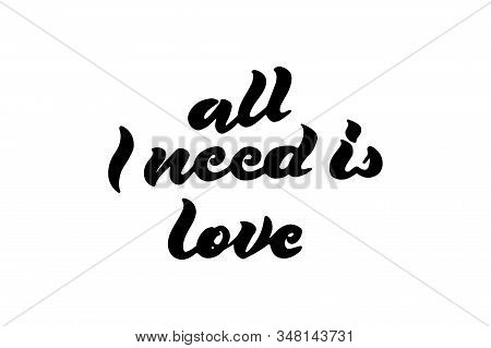 Calligraphic All You Need Is Love Inscription, All You Need Is Love Inscription Image