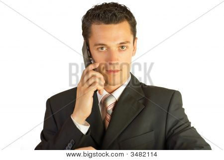 Businessman With Cellphone.